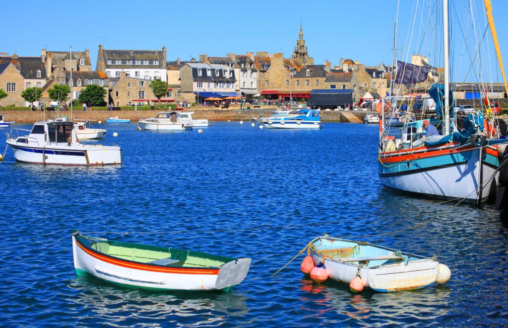 Port de Roscoff en Bretagne
